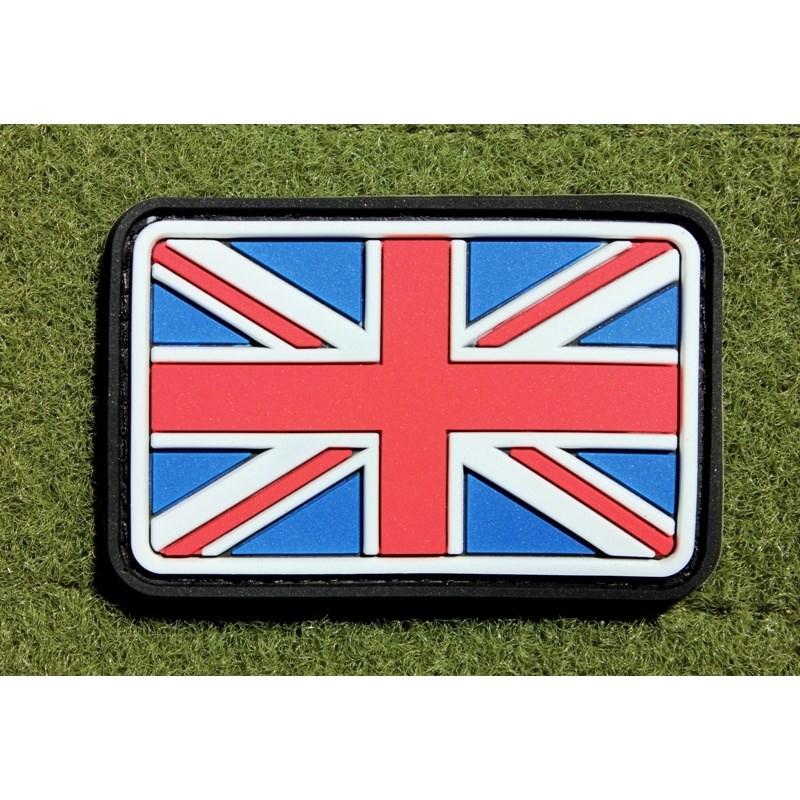 Nášivka vlajka velká BRITÁNIE velcro plast BAREVNÁ