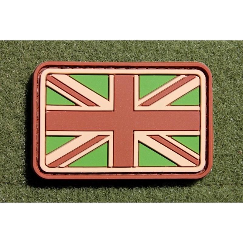 Nášivka vlajka velká BRITÁNIE velcro plast MULTICAM
