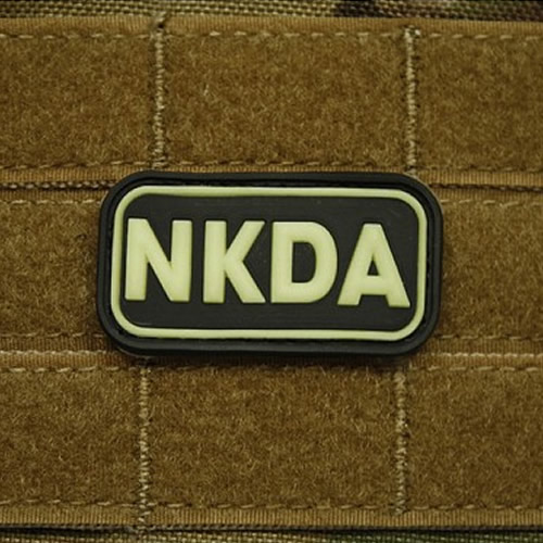 Nášivka KREV NKDA plast GLOW IN THE DARK