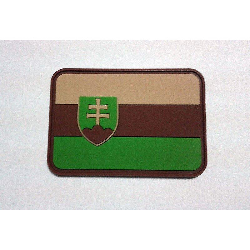 Nášivka vlajka SLOVENSKO plast velcro MULTICAM