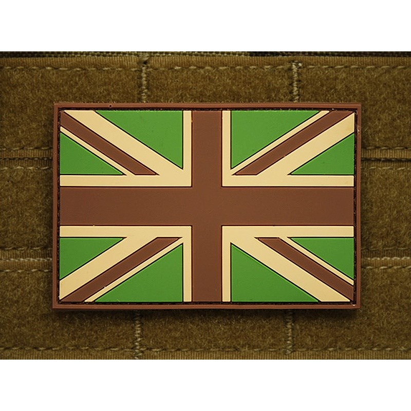 Nášivka vlajka velká BRITÁNIE plast velcro velká MULTICAM