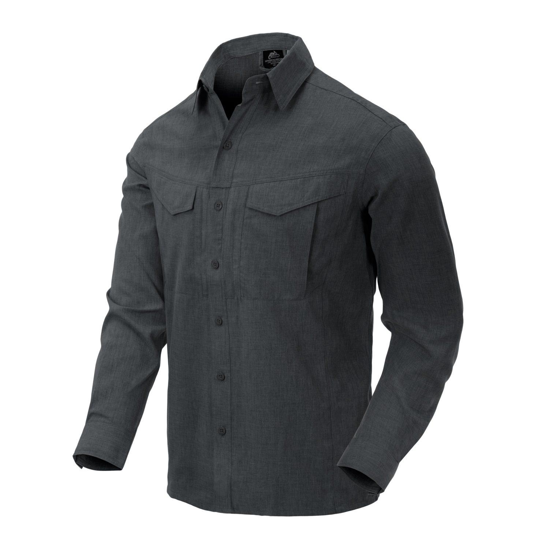 Košile DEFENDER Mk2 dl. rukáv ČERNO/ŠEDÁ MELANŽ Helikon-Tex® KO-DGM-PO-0119Z L-11
