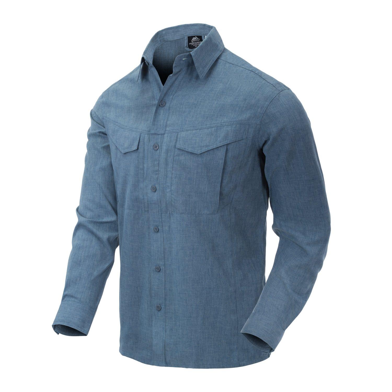 Košile DEFENDER Mk2 dl. rukáv MODRÁ MELANŽ Helikon-Tex® KO-DGM-PO-6520Y L-11