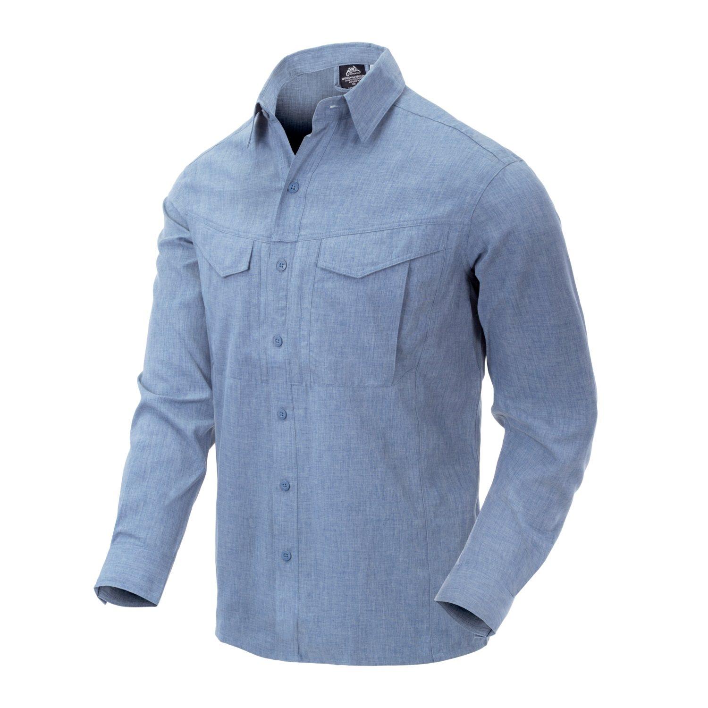 Košile DEFENDER Mk2 dl. rukáv SVĚTLE MODRÁ MELANŽ Helikon-Tex® KO-DGM-PO-6520Z L-11