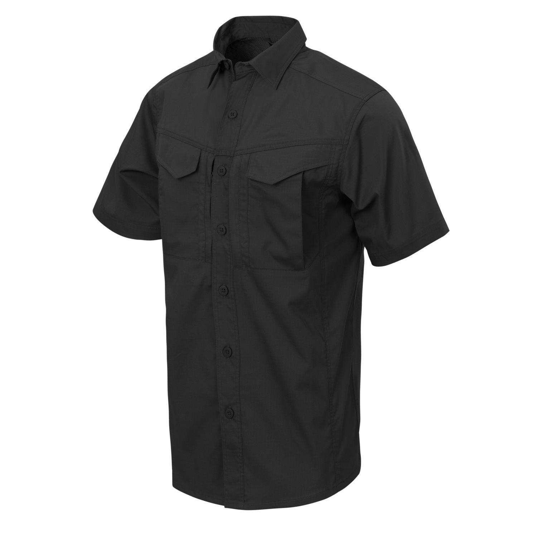 Košile DEFENDER Mk2 kratký rukáv ČERNÁ Helikon-Tex® KO-DS2-PR-01 L-11