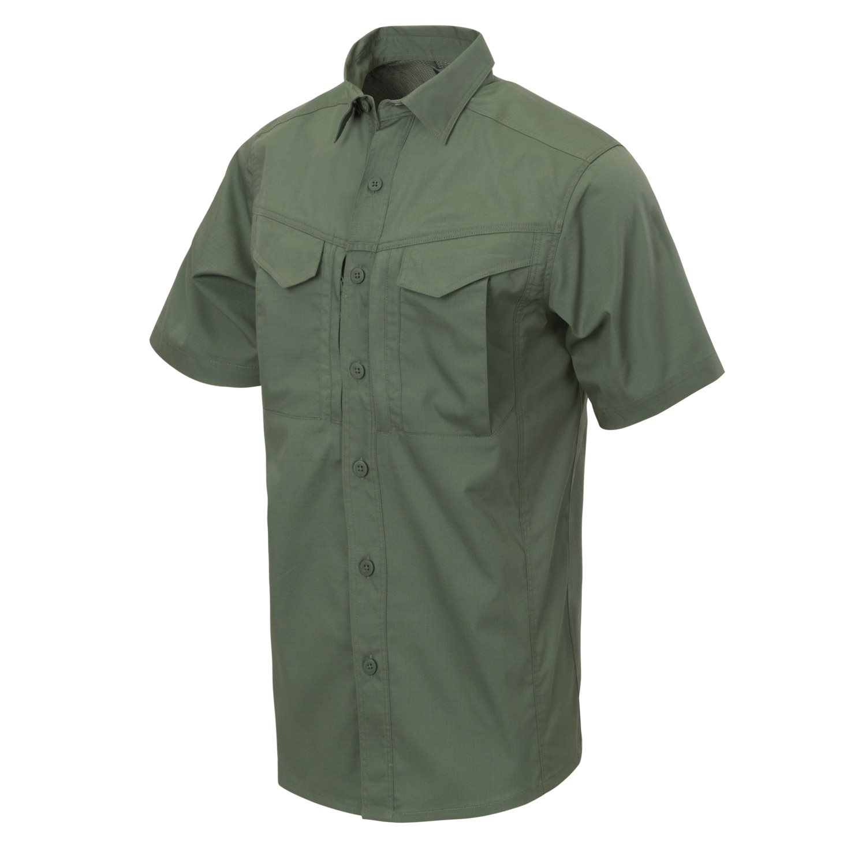 Košile DEFENDER Mk2 kratký rukáv OLIVE GREEN Helikon-Tex® KO-DS2-PR-02 L-11