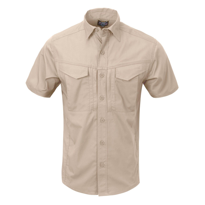 Košile DEFENDER Mk2 kratký rukáv KHAKI Helikon-Tex® KO-DS2-PR-13 L-11
