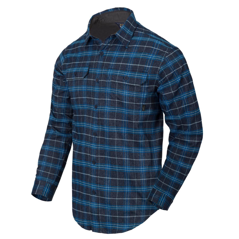 Košile GREYMAN dlouhý rukáv BLUE STONEWORK PLAID Helikon-Tex® KO-GMN-PN-PA L-11