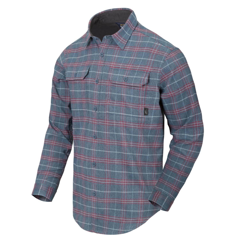 Košile GREYMAN dlouhý rukáv GRAPHITE PLAID Helikon-Tex® KO-GMN-PN-PB L-11