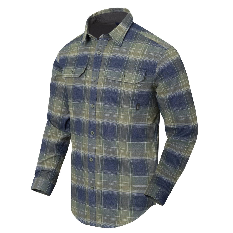 Košile GREYMAN dlouhý rukáv BLAST BLUE PLAID Helikon-Tex® KO-GMN-PN-PE L-11