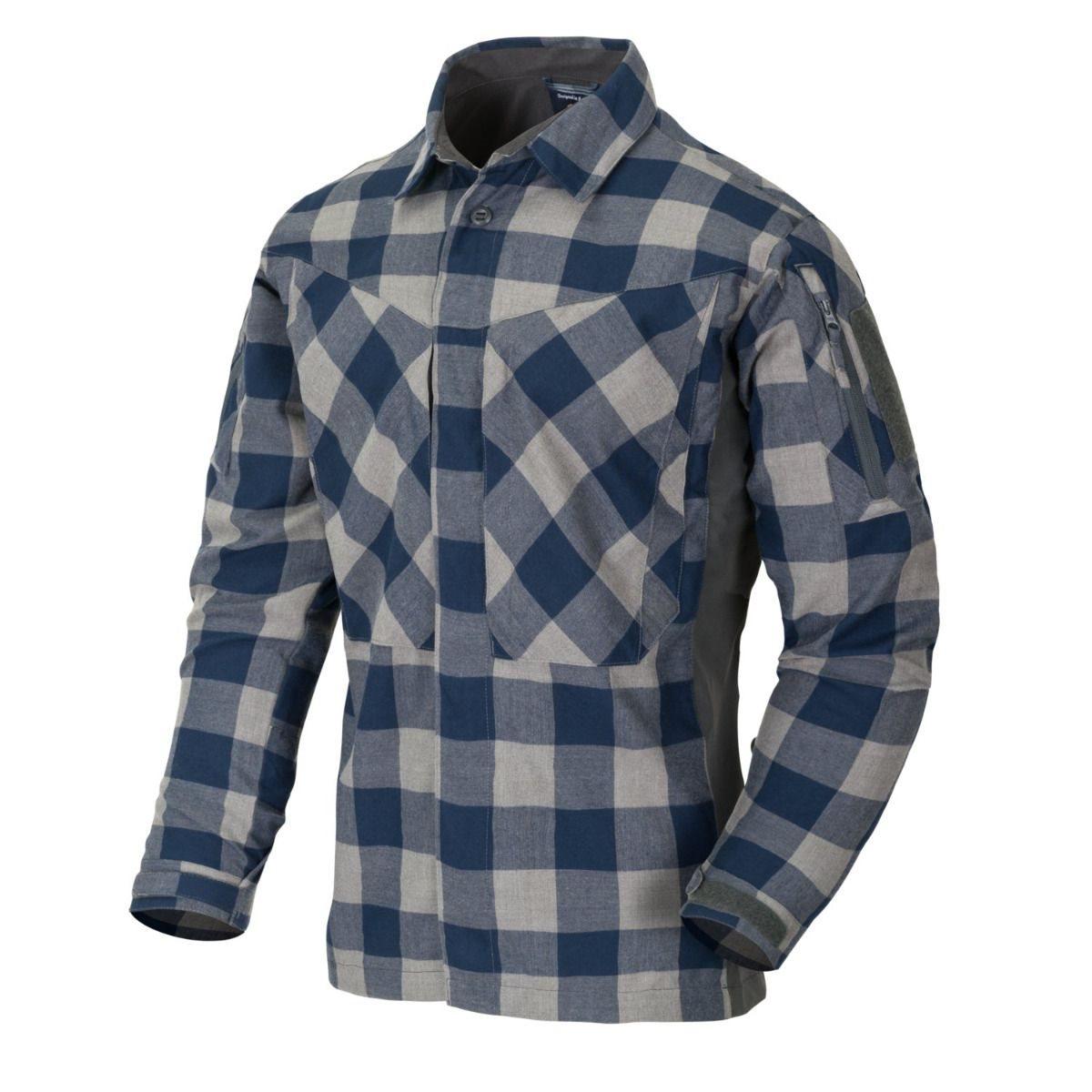 Košile MBDU flanel SLATE BLUE CHECKERED Helikon-Tex® KO-MBD-PO-C0 L-11