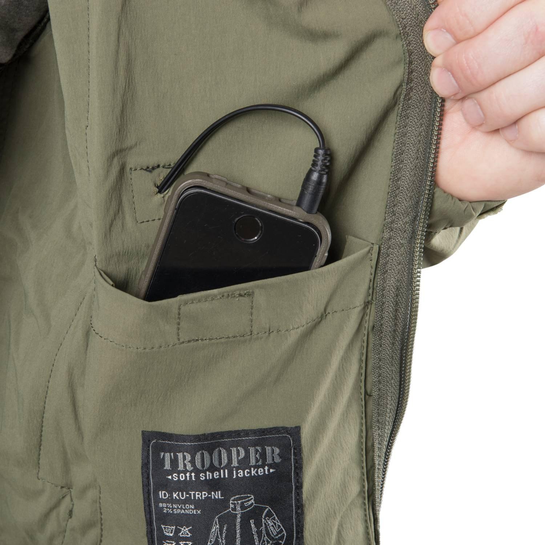 Bunda TROOPER softshell ZELENÁ Helikon-Tex® KU-TRP-NL-02 L-11