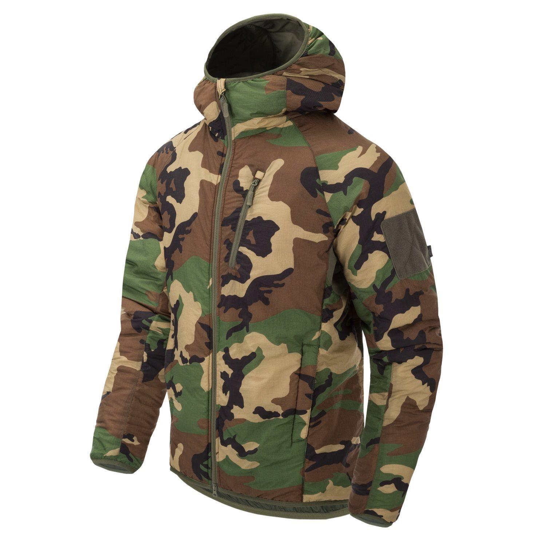 Bunda WOLFHOUND CLIMASHIELD® s kapucí US WOODLAND Helikon-Tex® KU-WLH-NL-03 L-11