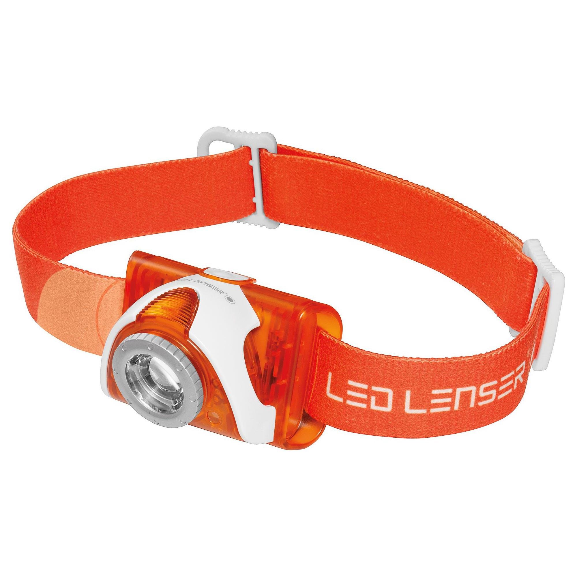 LED LENSER® | Svítilna čelová LEDLENSER SEO 3 ORANŽOVÁ