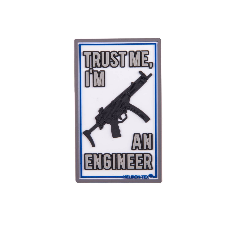 Nášivka TRUST ME IM AN ENGINEER velcro plastová Helikon-Tex® OD-TME-RB-20 L-11