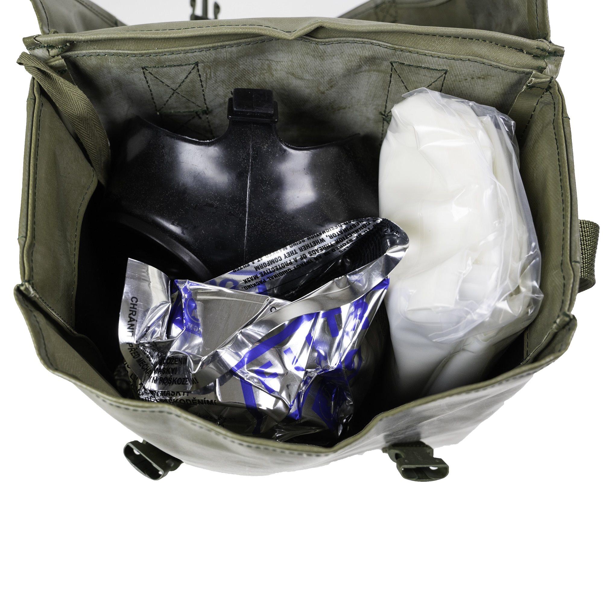 Maska plynová OM90 s filtrem a obalem + JP-90 Gumárny Zubří OM-90 L-11