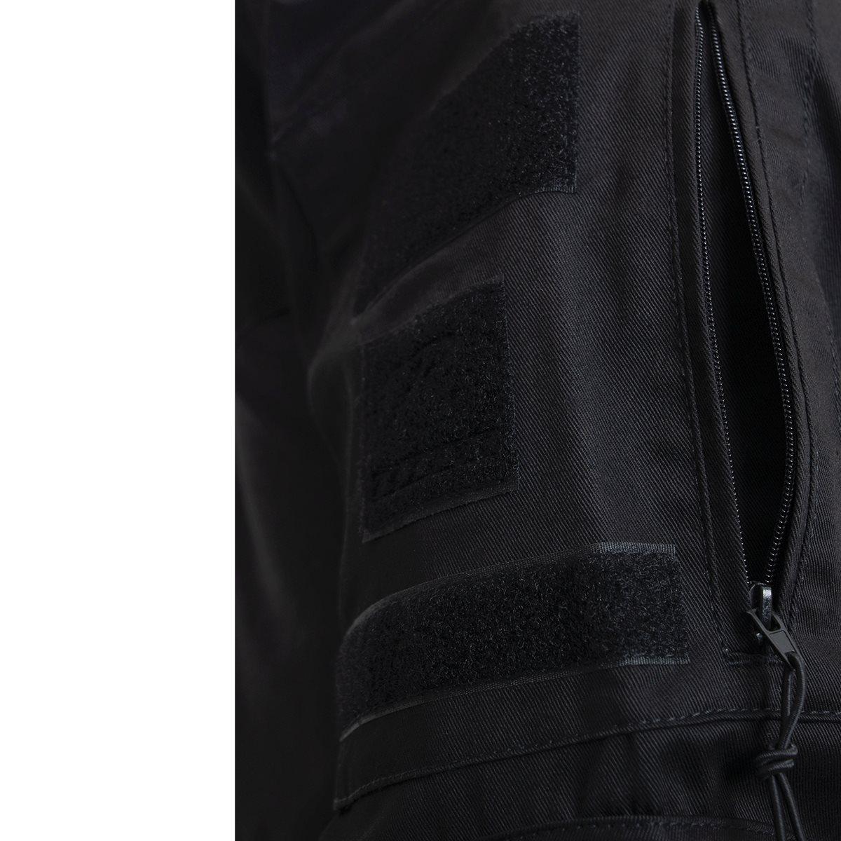 Košile taktická se zipem AIRSOFT COMBAT ČERNÁ ROTHCO 10216 L-11