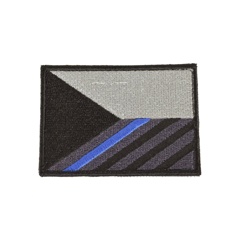 Nášivka vlajka ČR 7,5 x 5,5 cm MODRÝ pruh velcro
