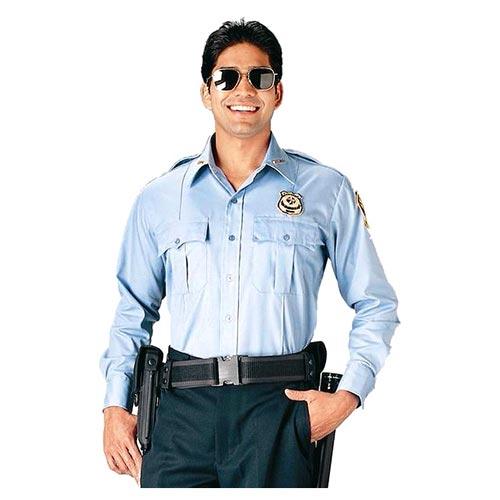 Košile POLICIE A SECURITY dl. rukáv SV.MODRÁ ROTHCO 30010 L-11