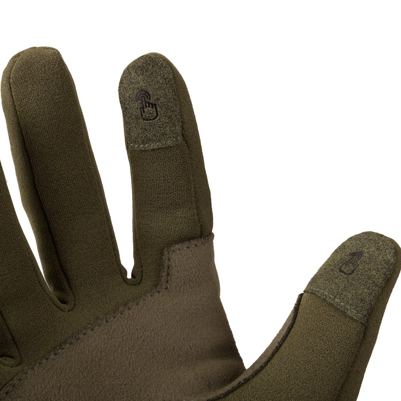 Rukavice TRACKER OUTBACK synt. kůže OLIVE GREEN Helikon-Tex® RK-TCO-RP-02 L-11