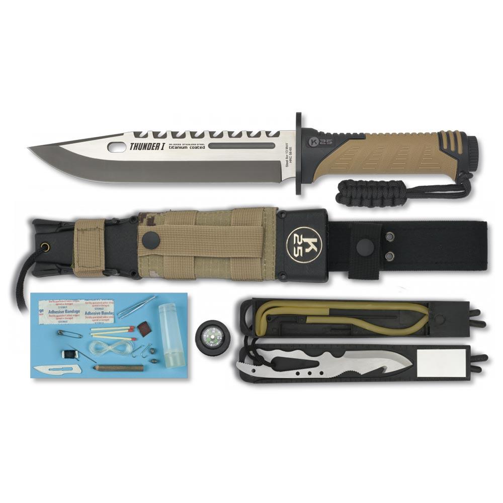 Nůž K25 nůž na přežití THUNDER I COYOTE