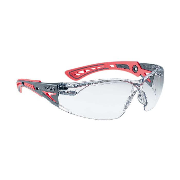 Brýle ochranné RUSH+ SMALL ČERVENÉ ČIRÉ