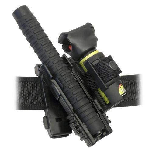 """Pouzdro rotační plastové MOLLE pro telesk. obušek 16,18,21"""" a obranný sprej"""
