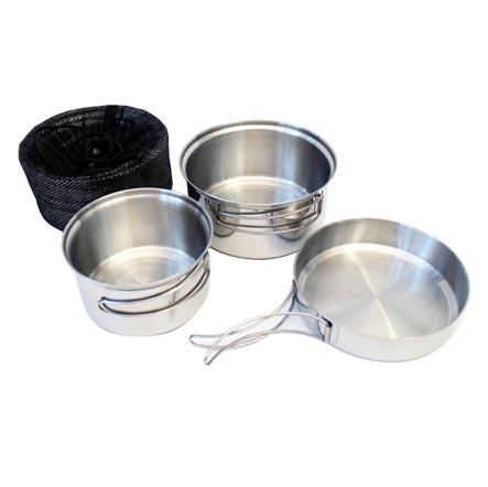 YATE | Jídelní nádobí třídílné nerezové TRAPPER