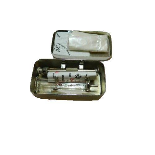 Stříkačka injekční 2ml v nerezové krabičce