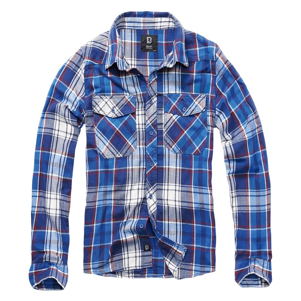 Košile CHECK kostkovaná MODRÁ BRANDIT 4002-08 L-11
