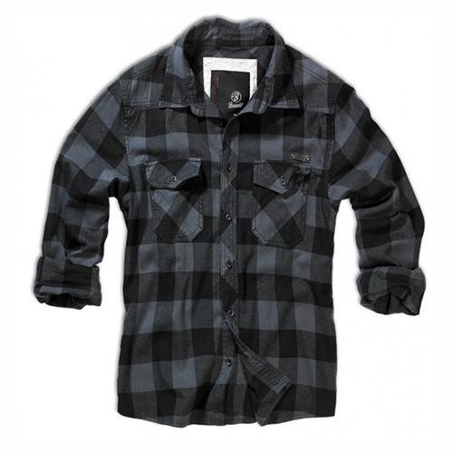 Košile CHECK kostkovaná ŠEDÁ/ČERNÁ BRANDIT 4002-28 L-11