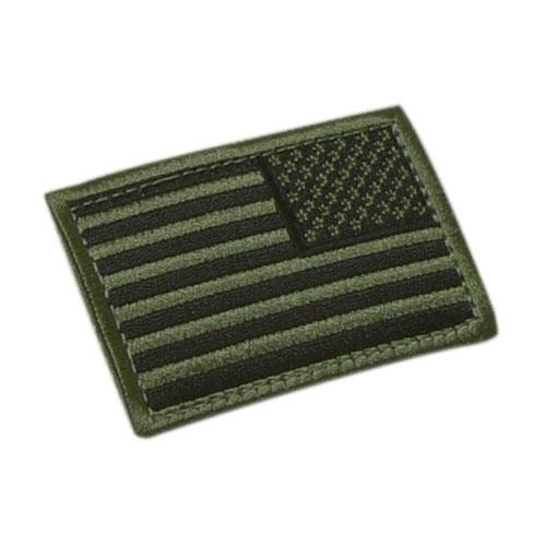 Nášivka vlajka US revers OLIV