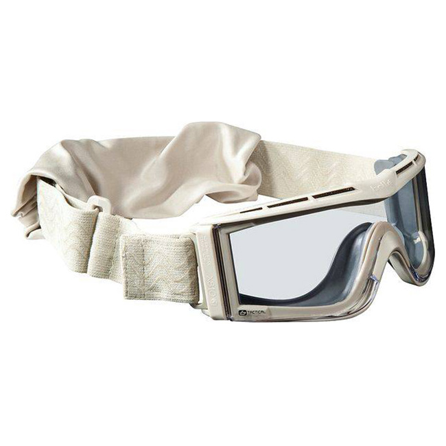 Brýle taktické BOLLE X-810 PÍSKOVÁ - ČIRÉ SKLO
