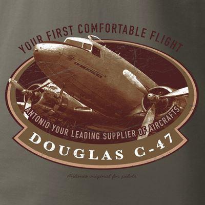 Triko Douglas C-47 SKYTRAIN ŠEDOZELENÉ