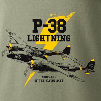 Triko P-38 LIGHTNING ZELENÉ