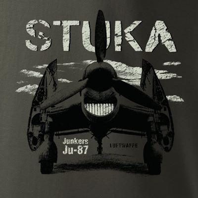 Triko Junkers Ju-87 STUKA ŠEDOZELENÉ