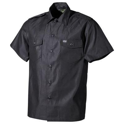 Košile US krátký rukáv ČERNÁ