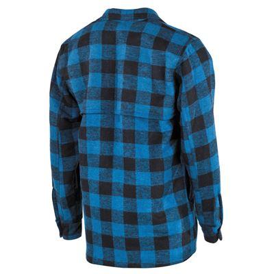 Košile kostkovaná dřevorubecká MODRÁ/ČERNÁ