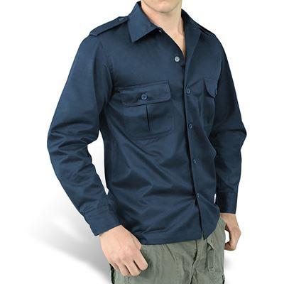 Košile US HEMD s dlouhým rukávem NAVY