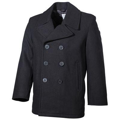 Kabát US  Pea Coat ČERNÝ