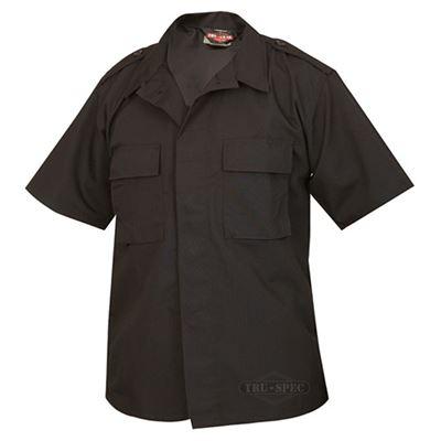 Košile služební krátký rukáv rip-stop ČERNÁ
