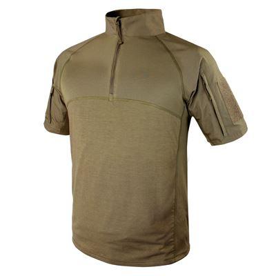 Košile taktická COMBAT krátký rukáv TAN