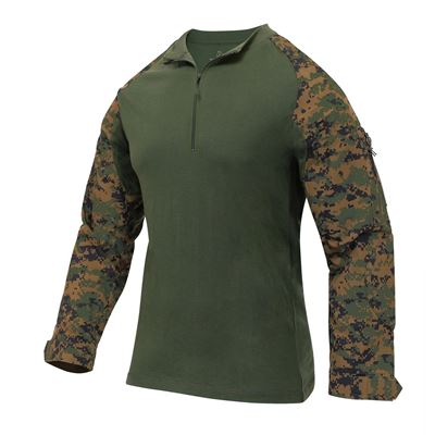 Košile taktická se zipem AIRSOFT COMBAT DIGITAL WOODLAND