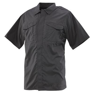 Košile 24-7 UNIFORM krátký rukáv rip-stop ČERNÁ