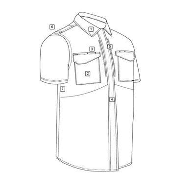 Košile 24-7 UNIFORM krátký rukáv rip-stop ZELENÁ