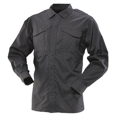Košile 24-7 UNIFORM dlouhý rukáv rip-stop ČERNÁ