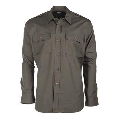 Košile polní na knoflíky rip-stop ZELENÁ