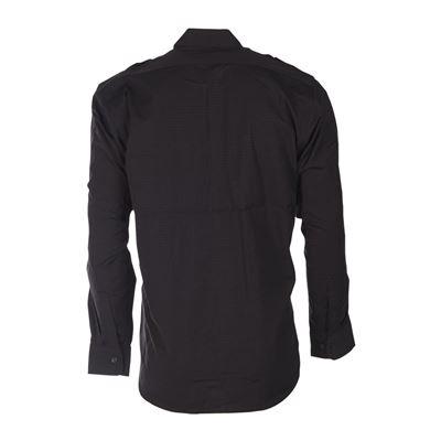 Košile polní na knoflíky rip-stop ČERNÁ