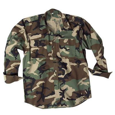 Košile polní na knoflíky rip-stop WOODLAND
