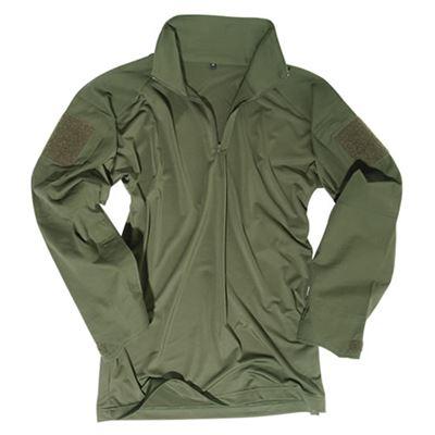 Košile taktická s límečkem ZELENÁ
